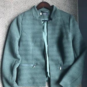 Green Wool Striped Blazer from Only